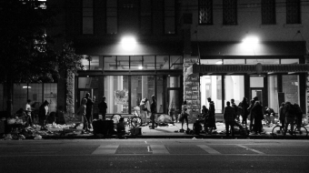 """""""skid row"""" on the downtown eastside"""