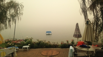 Smoke in Osoyoos. Photo by Jessica Lebowitz