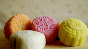 Snow skin mooncakes for the Mid-Autumn Festival