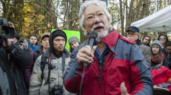 Tamo and David Suzuki Burnaby Mountain Kinder Morgan protest - Mychaylo Prystupa