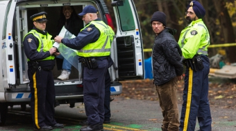 Tamo Campos arrested Burnaby Mountain in protest of Kinder Morgan - Mark Klotz