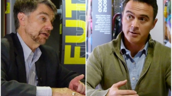 Left: Science World CEO Brian Tisdall. Right: Tracker Productions' Les McDonald