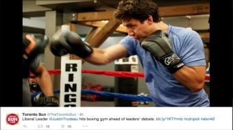 Trudeau photo-op fodder for social media (Twitter)