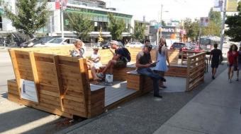 Vancouver parklet on West 4th Avenue