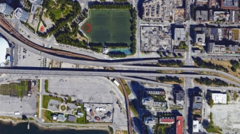 The twin viaducts. Google Earth image