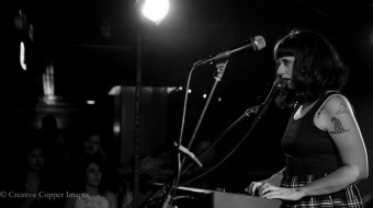 Waxahatchee performing at the Biltmore Cabaret