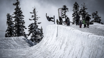 Snowboarder in the Blackcomb Halfpipe, WSSF 2017