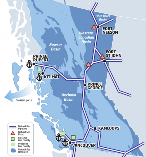 Vancouver Island Natural Gas Pipeline Map