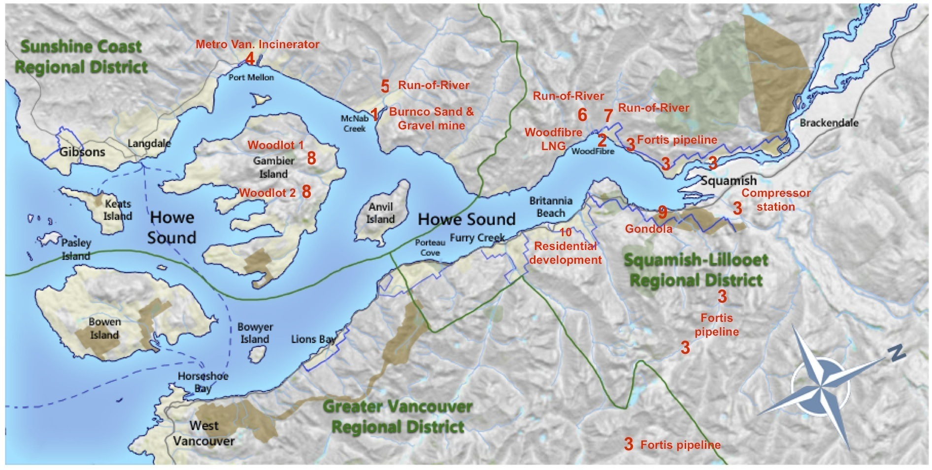 Map Of Howe Sound Islands