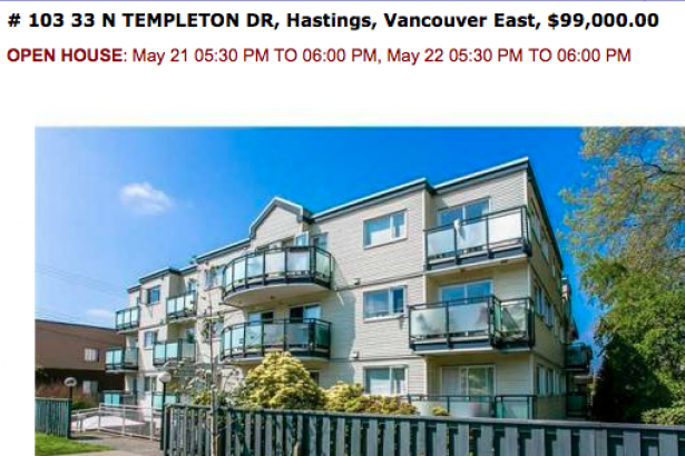 The cheapest apartment in Vancouver: Is that a typo ...