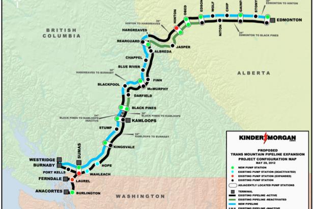 Kinder Man proposed    pipeline    expansion map   Vancouver