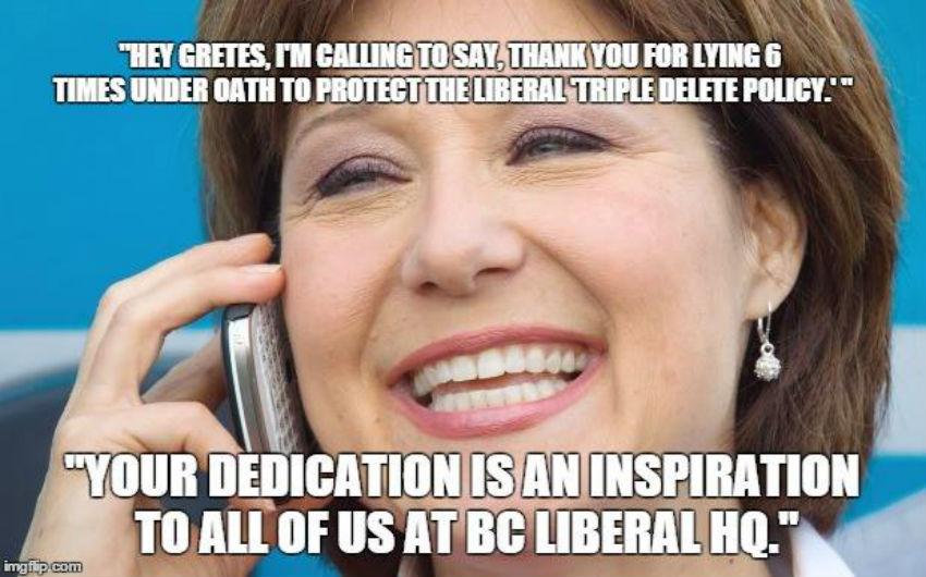 Christy Clark, George Gretes, B.C. Liberals, B.C. government