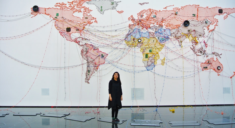 Mumbai Artist Maps Out Web Of Wire At Vag Offsite
