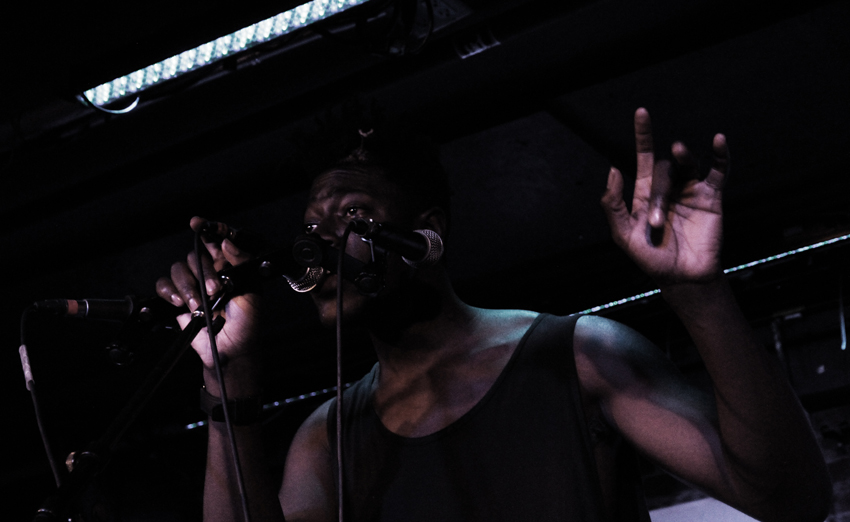 Moses Sumney opened for Hundred Waters