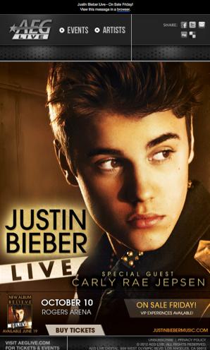 Justin Bieber Vancouver Quot Believe Tour Quot Tickets Go On Sale