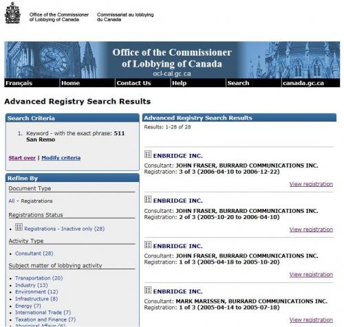 Christy Clark Residential Address Burrard Lobbying