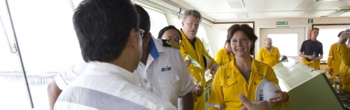 BC Premier Christy Clark touring Petronas LNG complex in Malaysia.jpg