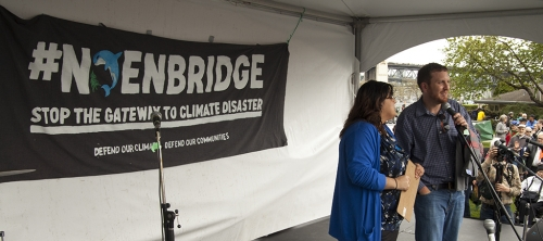 #NoEnbridge Rally by ForestEthics in Vancouver May 2014