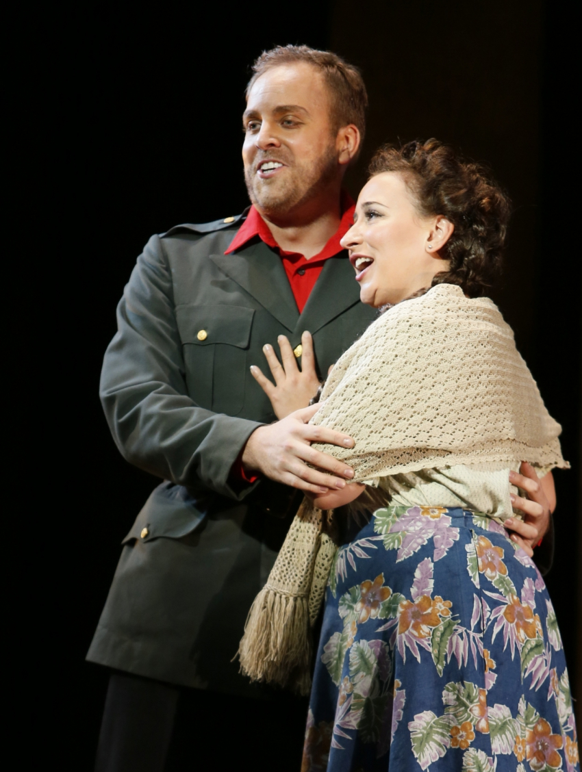 Don José (Richard Troxell performed the role opening night) and Marianne Fiset a