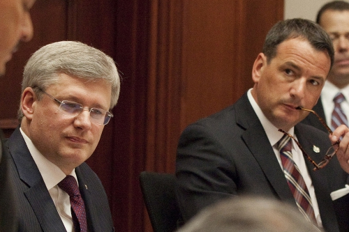 Prime Minister Harper and Natural Resources Minister Greg Rickford - gov't photo