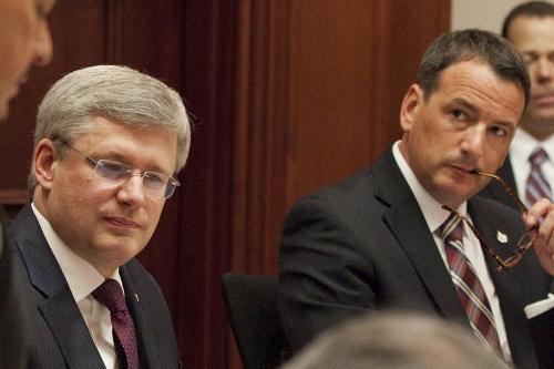 Prime Minister Harper and Natural Resources Minister Greg Rickford - gov't photo