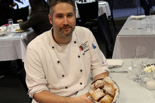 Chef Kiely and his pumpkin ale beignets