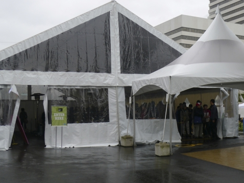 The revival tent