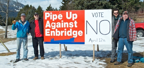 Pipe Up Against Enbridge - Vote No - Douglas Channel Watch photo