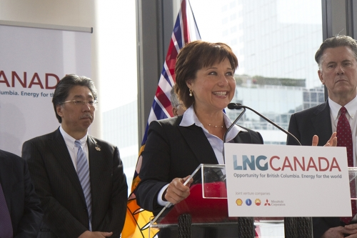Premier Christy Clark - LNG Canada presser - Shell Oil - BC gov't photo
