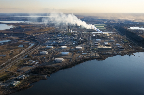Syncrude tar sands oil sands aerial - Andrew S. Wright