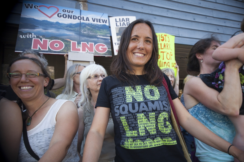 Tracy Saxby My Sea To Sky - No LNG rally Squamish Council July 2014 Mychaylo Pry