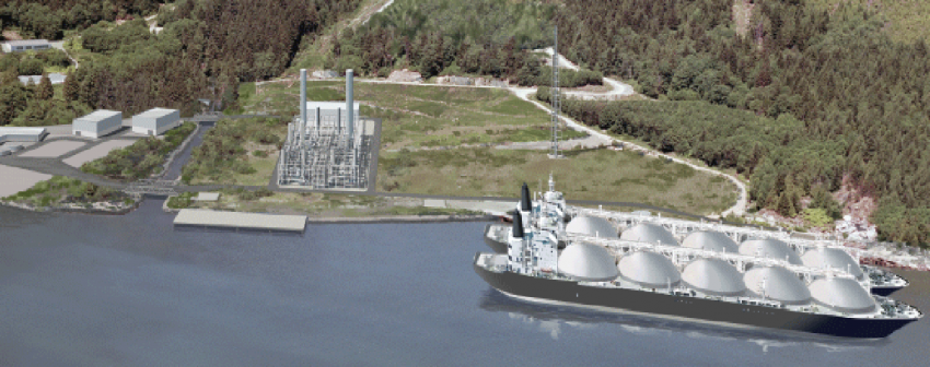 Woodfibre LNG illustration Howe Sound