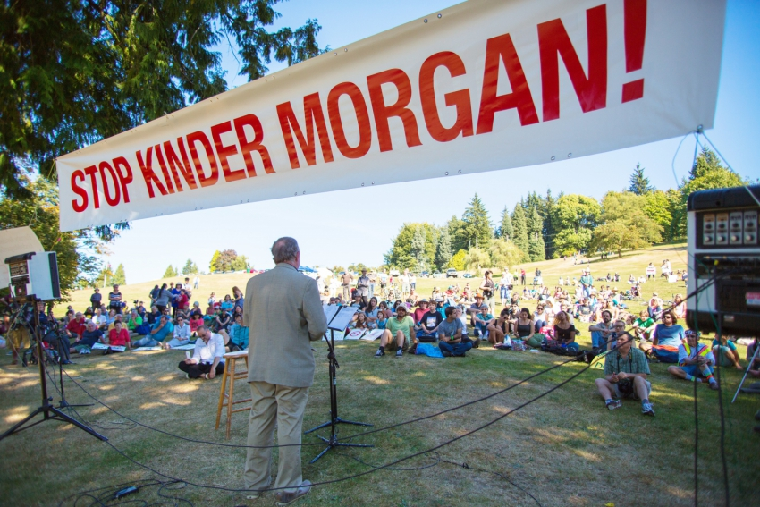 Burnaby Mayor Derek Corrigan - Kinder Morgan protest - Mark Klotz