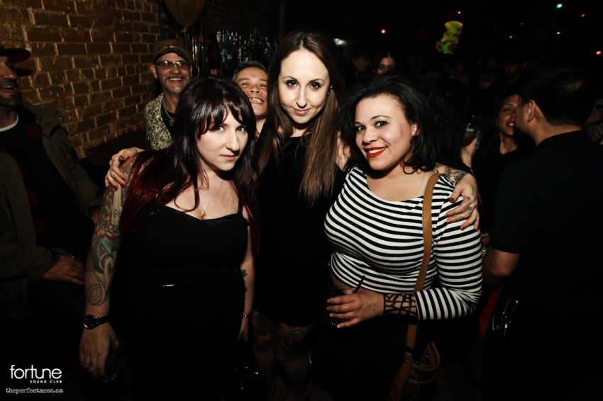 Zoe Peled, Marketing and Administrative Manager at Fortune (centre) with friends