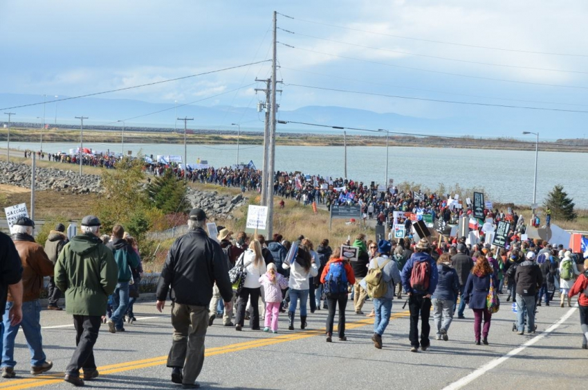 Cacouna Energy East protest October 2014 - Infodimanche