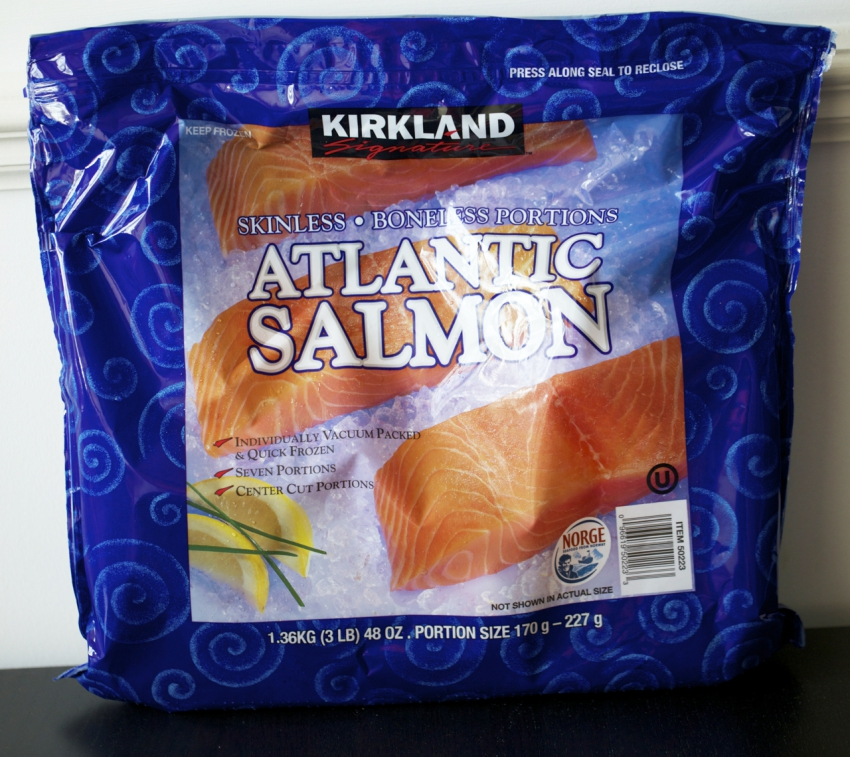 Costco farmed salmon Kirkland Signature Atlantic Salmon