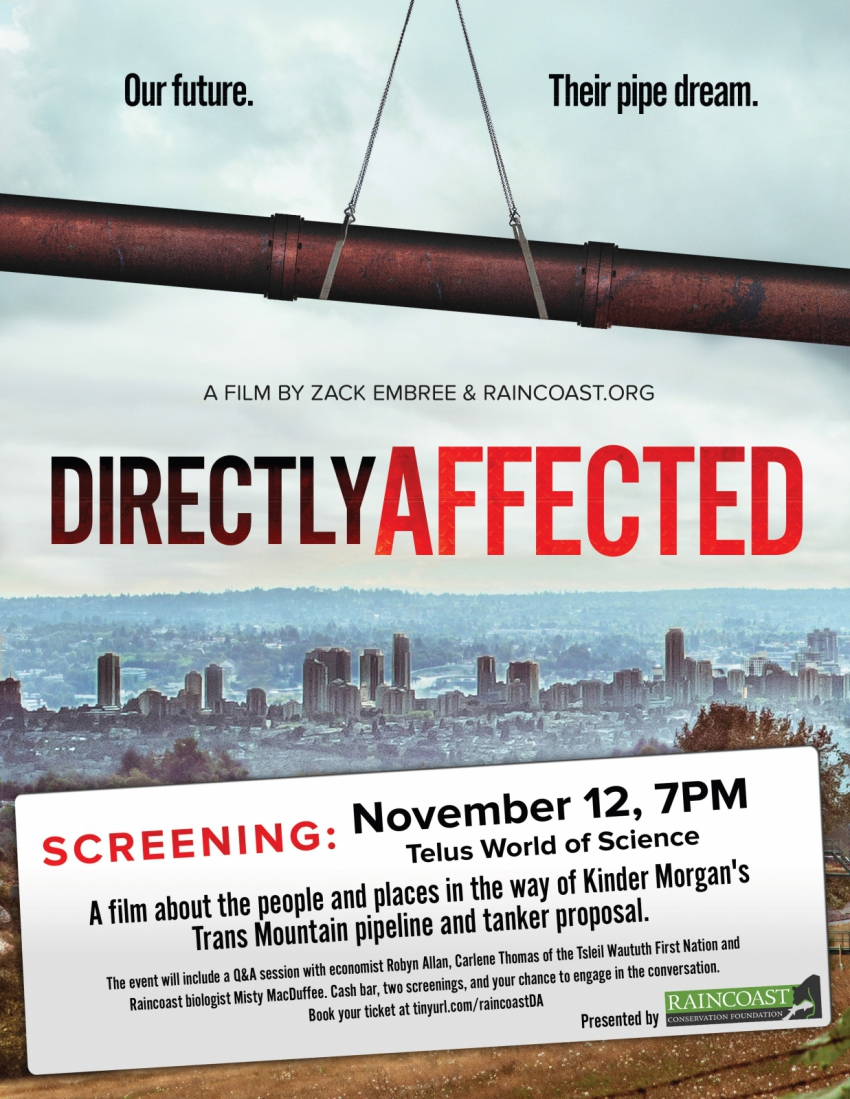 Directly Affected screening poster Vancouver