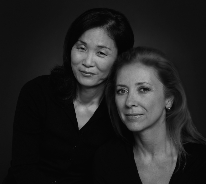 Author Lucia Jang and journalist Susan McClelland
