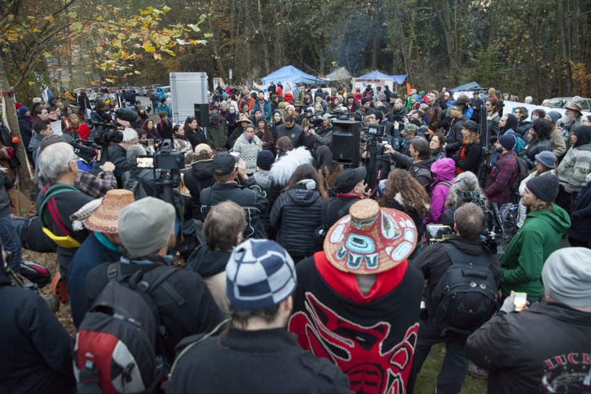 Kinder Morgan Burnaby Mountain protest post-injunction - Mychaylo Prystupa