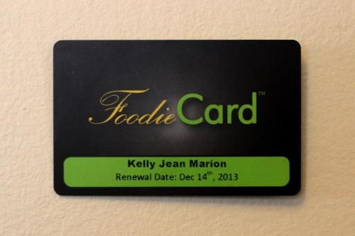 Kelly Marion, Foodie Card