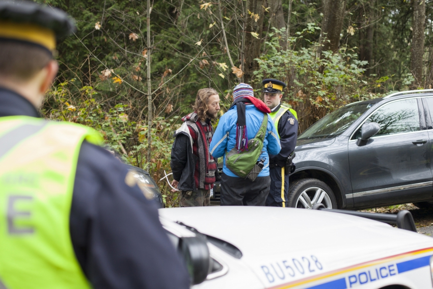 Man arrested Burnaby Mountain - Mychaylo Prystupa - Kinder Morgan injunction 201