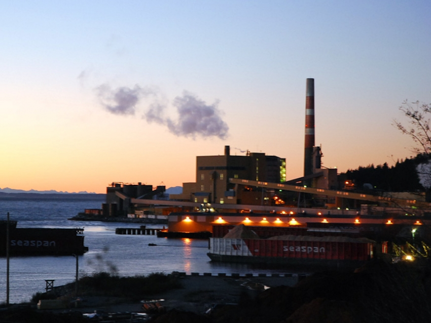 Pulp&Paper Mill @ sunset