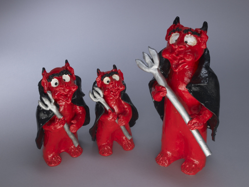 Nelson Oliveira, Three Devil figures, Barcelos, 2011. Photo: Kyla Bailey