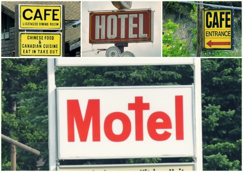 Roadside sign fonts