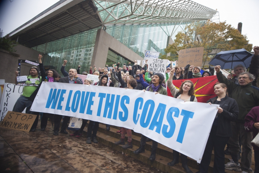 We Love This Coast protesters Kinder Morgan BC Supreme Court - Mychaylo Prystupa