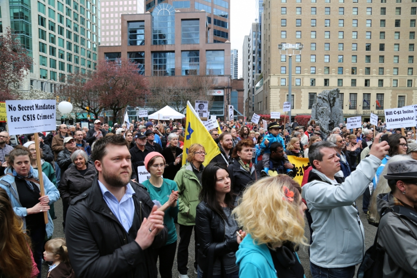 Wes Regan, anti-Bill C51 protest, CSIS, Stephen Harper